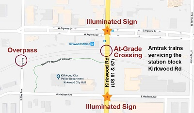 Railway-Highway Crossings (Section 130) Program - Safety   Federal on arnold missouri area map, livingston mo map, collinsville mo map, st. peters mo map, houston mo map, saint louis missouri map, portland mo map, north county mo map, glencoe mo map, washington mo map, dellwood mo map, corning mo map, kirkwood missouri, madison mo map, homewood mo map, kirkwood real estate listings, mo street map, gainesville mo map, lake viking mo map, south city mo map,