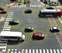 Photo: various vehicles in intersection