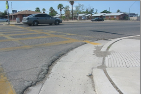 Image 2: Asphalt is commonly used for shared use paths, but sometimes also for sidewalks