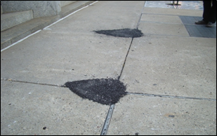 Image 7: Bricks and pavers that have come loose or are not evenly placed can create a hazard.