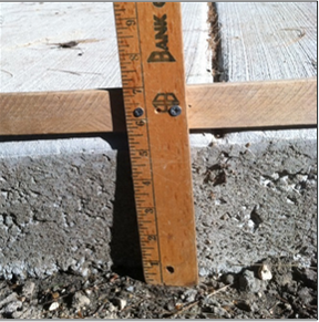 Figure 34 Five Inches Of Concrete Sidewalk
